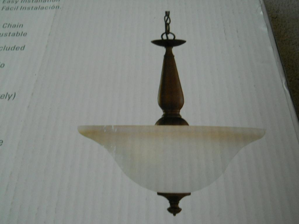 light hanging pendant lamp w chain home depot 892 696 new in box. Black Bedroom Furniture Sets. Home Design Ideas