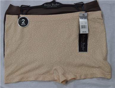 about 2 PACK OF LADIES DELTA BURKE PANTY BRIEFS Sz 10/3X #TN123 NWT