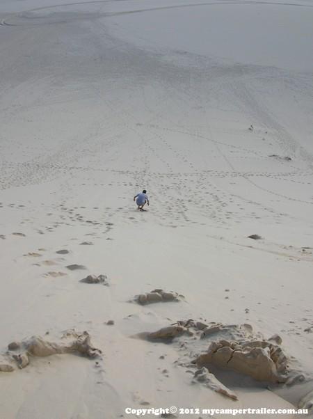 Sliding the sand dunes