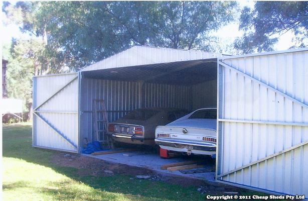 Double garage barn doors 56m x 55m colorbond cheap sheds john wallace garage solutioingenieria Image collections
