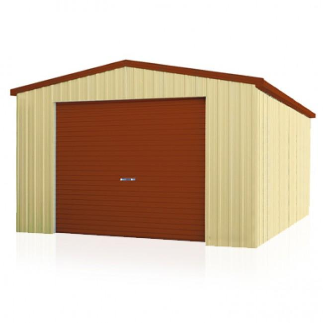 Spanbilt smartbild single garage roller door 4m x 6m shed for Garden shed with roller door