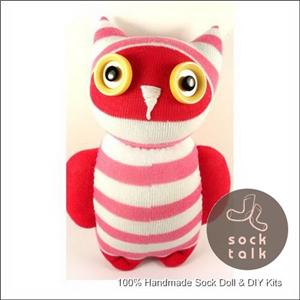 Handmade Sock Monkey Owl Stuffed Animals Doll Baby Toy