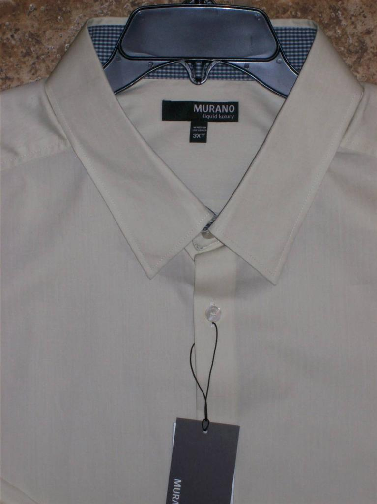 Mens MURANO L S Light Ivory Colored Button Front Dress ...