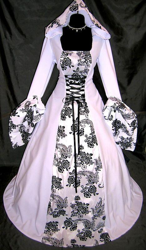 Sale medieval wedding dress victorian renaissance m xl for Celtic wedding dresses for sale