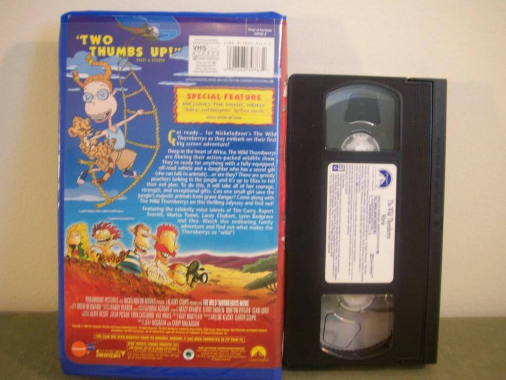Nickelodeon The Wild Thornberrys Movie Vhs Ebay