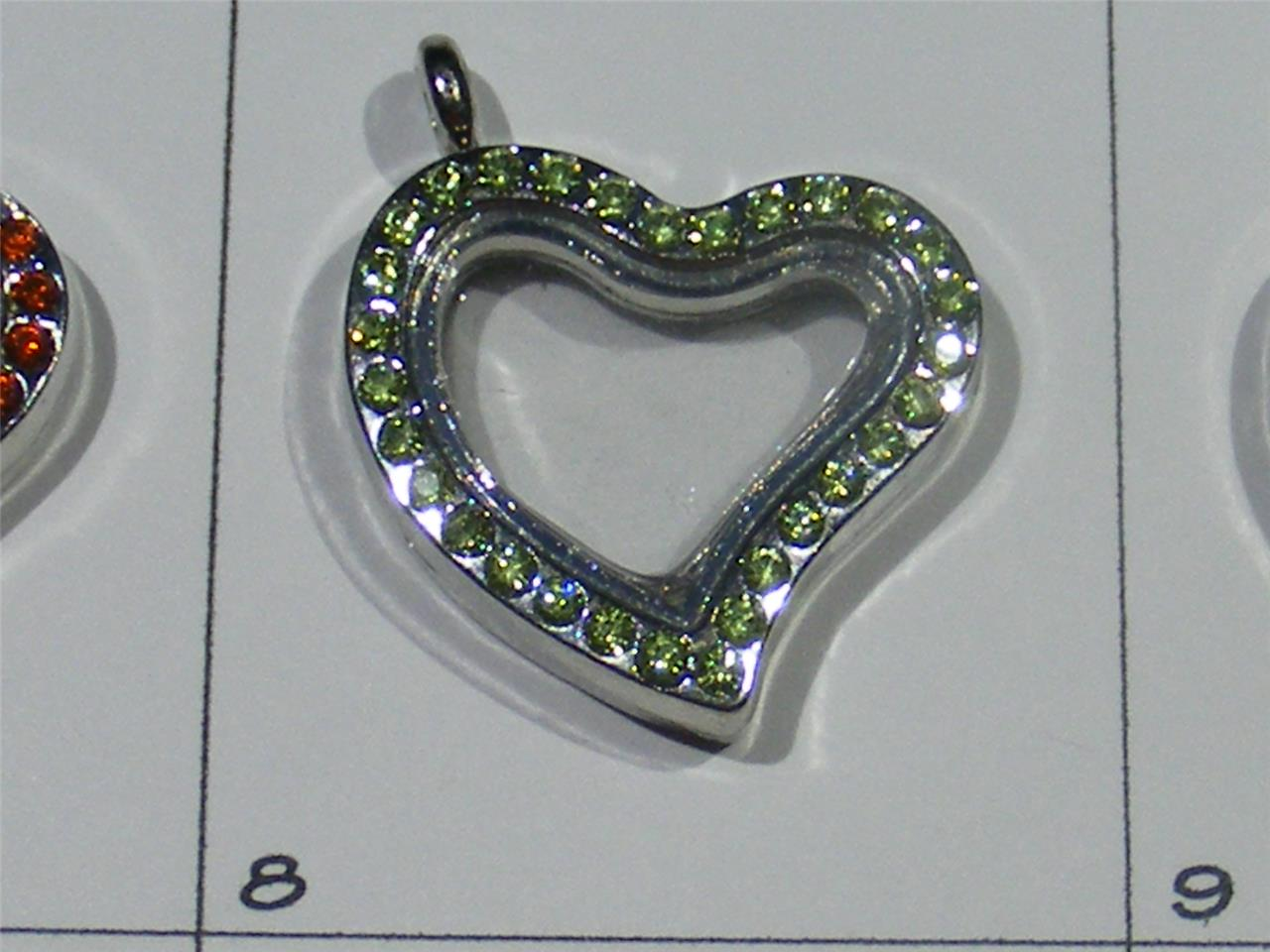 clearanceheart floating locketchoose colored crystals1