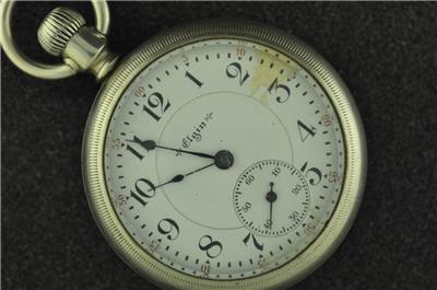 Vintage 18s Elgin 19j B W Raymond Pocket Watch From 1902
