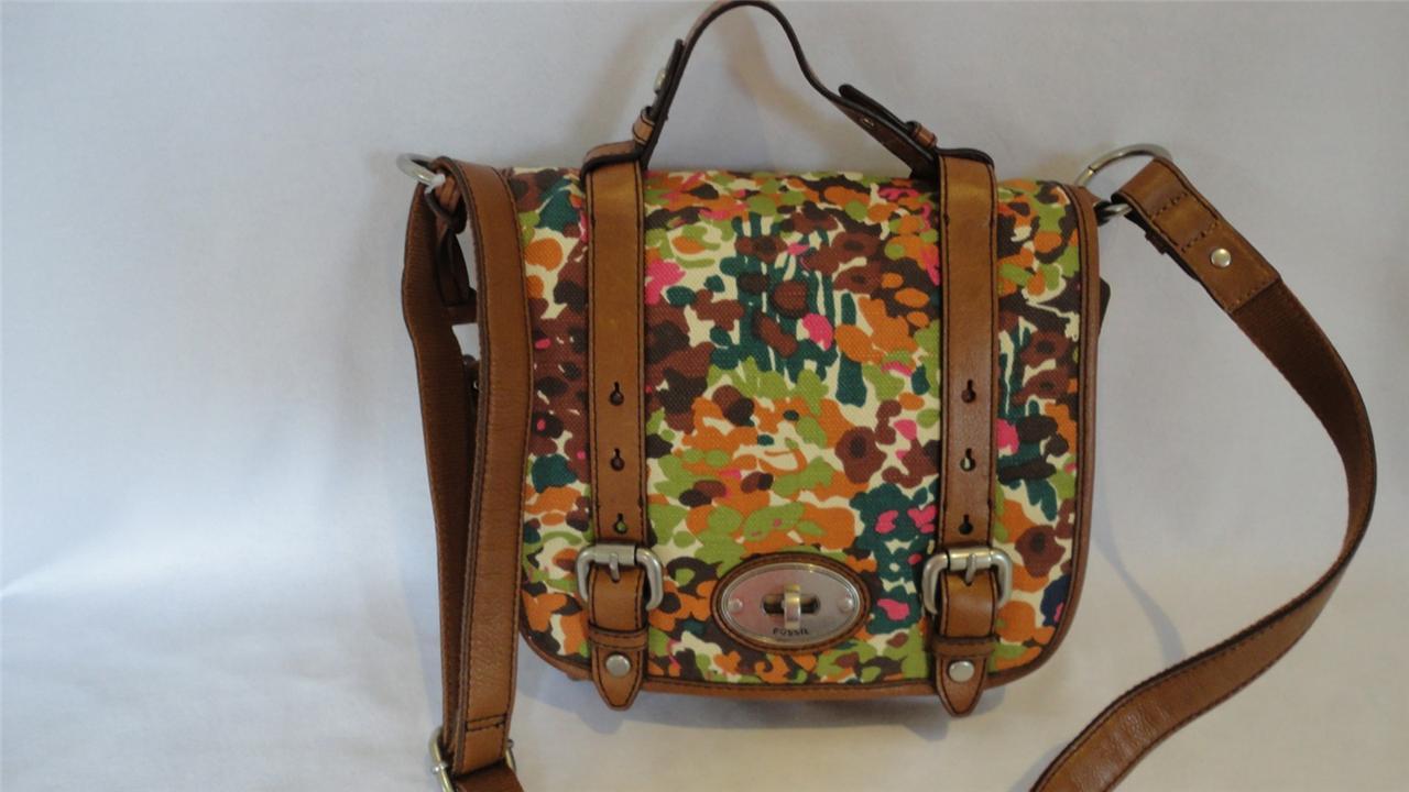 FOSSIL Floral Maddox Organiser Crossbody Bag Handbag - NEW WITH TAGS