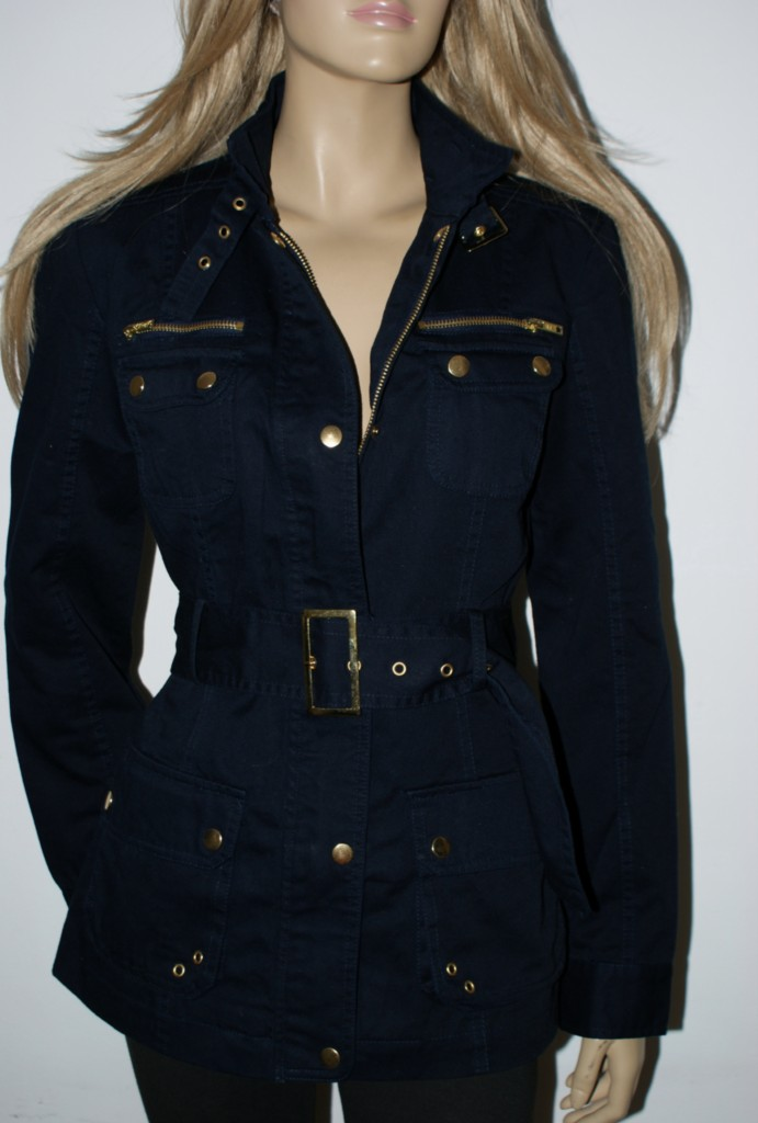 Jane Norman Navy Military Jacket New Size 8 16 Belted