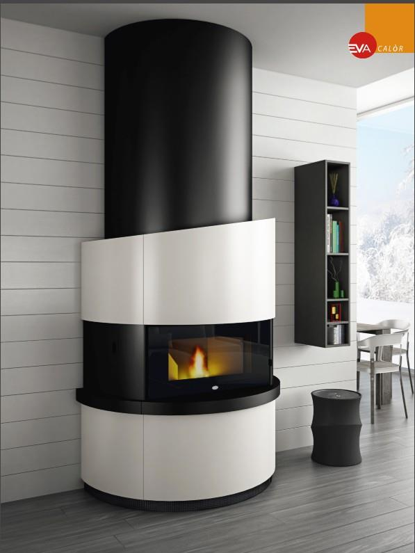 kaminofen 12 kw pellet komplett eva calor michelangelo modern design ebay. Black Bedroom Furniture Sets. Home Design Ideas