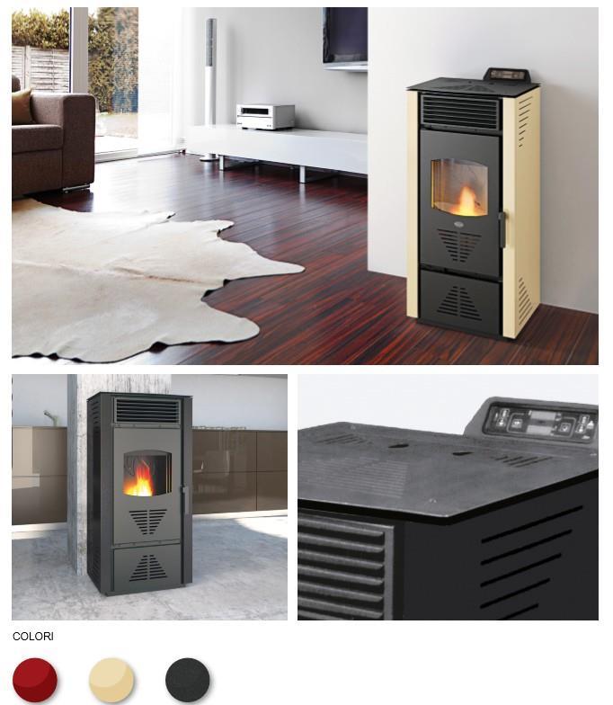 poele a granules pellet eva calor paola 13 kw 300m3 programmation ebay. Black Bedroom Furniture Sets. Home Design Ideas