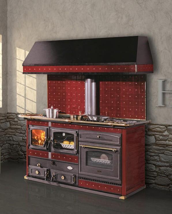 Thermo kitchen wood ceramic 27kw 560m3 cola emmanuelle - Cucine a legna e gas ...