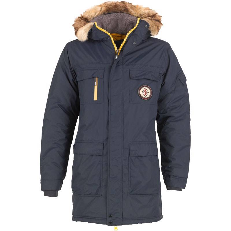 bench l ssige herren jacke winterjacke layo blau navy parka kapuze m xl neu ebay. Black Bedroom Furniture Sets. Home Design Ideas