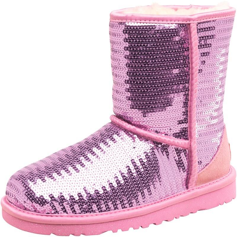 ugg australia kinder boots stiefel classic sparkles. Black Bedroom Furniture Sets. Home Design Ideas