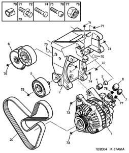 Пежо 406 ремень генератора схема фото 835