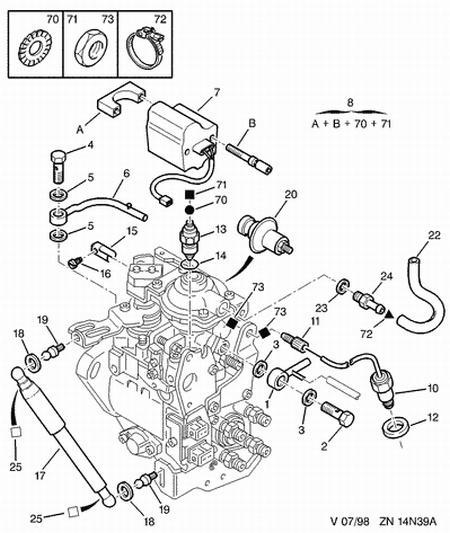 engine damper for peugeot expert 306 406 806 1 9td 1920r9