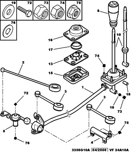 gear lever repair kit for peugeot 205 306 309 406 605