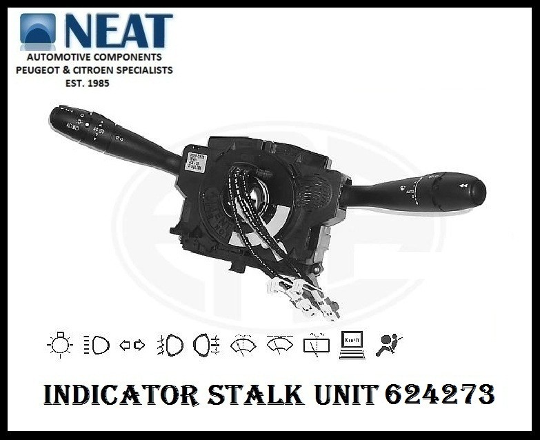 Indicator Stalk Wiper Switch Unit Comm 2000 For Peugeot 307 624273 Ebay