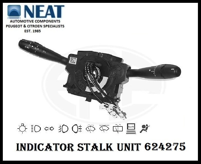 Indicator Stalk Wiper Light Switch For Peugeot 307 624275 Ebay