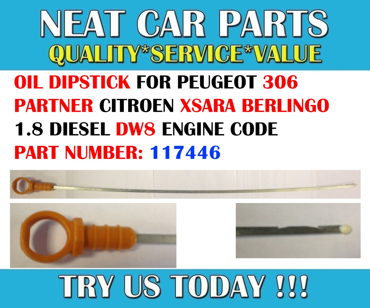 engine oil dipstick for 306 partner berlingo xsara 1 9d dw8 engine code 117446 ebay. Black Bedroom Furniture Sets. Home Design Ideas