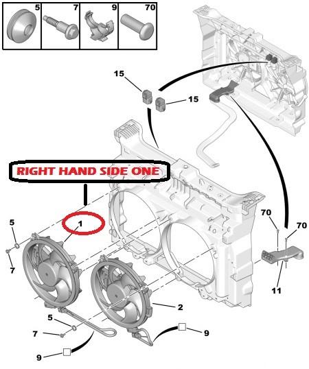 peugeot 407 607 807 2 2hdi 2 7hdi citroen c6 radiator fan motor 1253k5 genuine