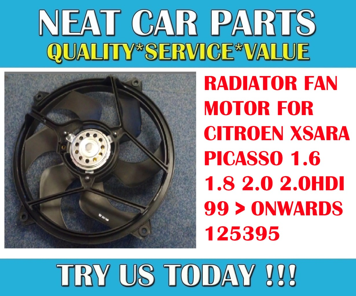radiator cooling fan motor for citroen xsara picasso 1 6 1 8 2 0 2 0hdi 125395 ebay. Black Bedroom Furniture Sets. Home Design Ideas