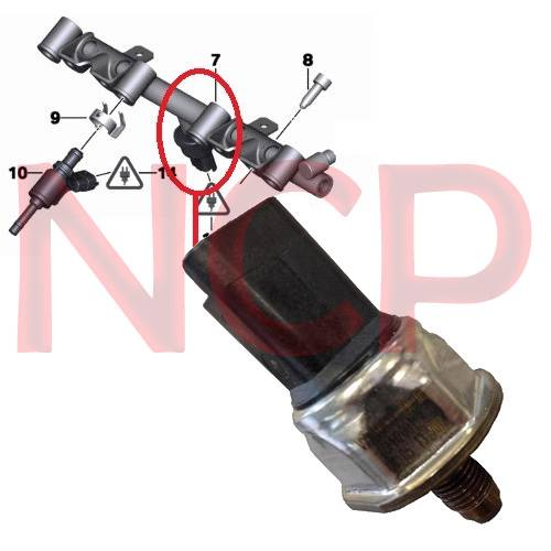 peugeot 508 1 6 hdi fuel rail pressure sensor 1920tl ebay. Black Bedroom Furniture Sets. Home Design Ideas