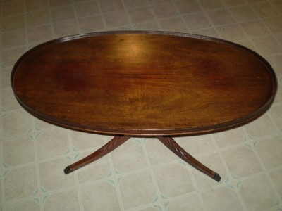 details about mersman 7376 vintage oval coffee table berlin n h