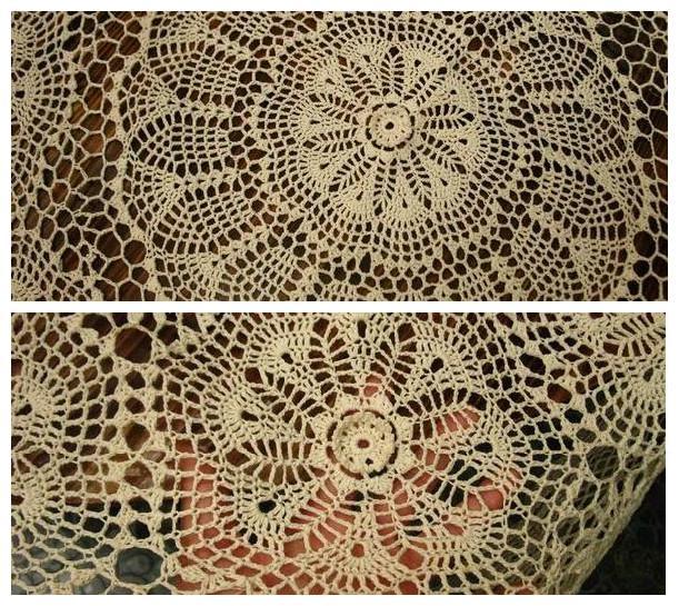 handmade crochet lace tablecloth 68