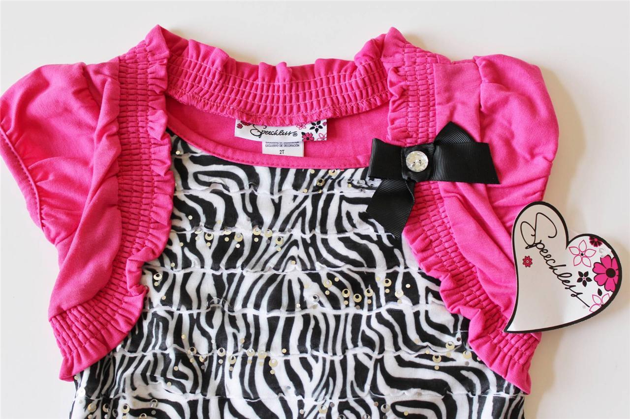 Toddler Girl Clothes Speechless Zebra Print Eyelash Dress