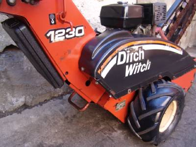 Ditch Witch 1230 Walk Behind Trencher 13hp Honda Motor