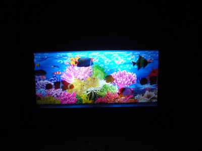 New funky instant aquarium moving light up motion fish ebay for Moving fish tank