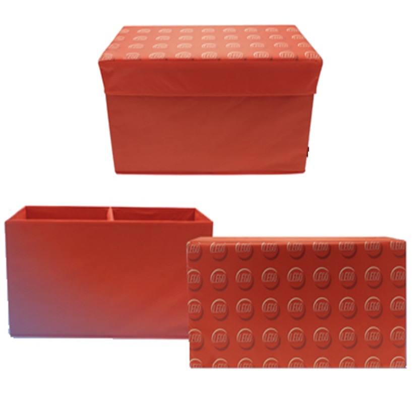 Lego Storage Bench Box Red Blue Kids Childrens Large Toy Chest Box Padded Seat Ebay
