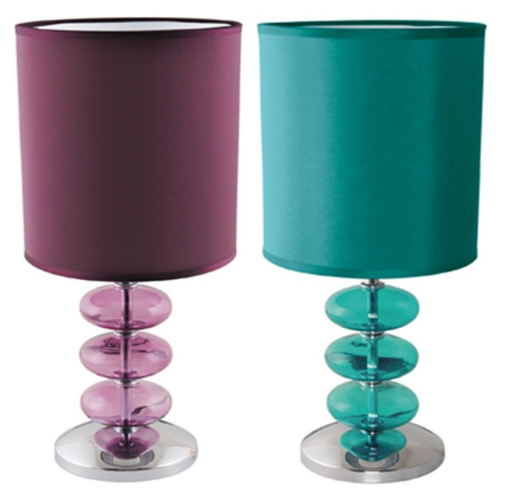 LLOYTRON VIENNESE TEAL PLUM LAMP TABLE DESK BEDROOM LIGHT