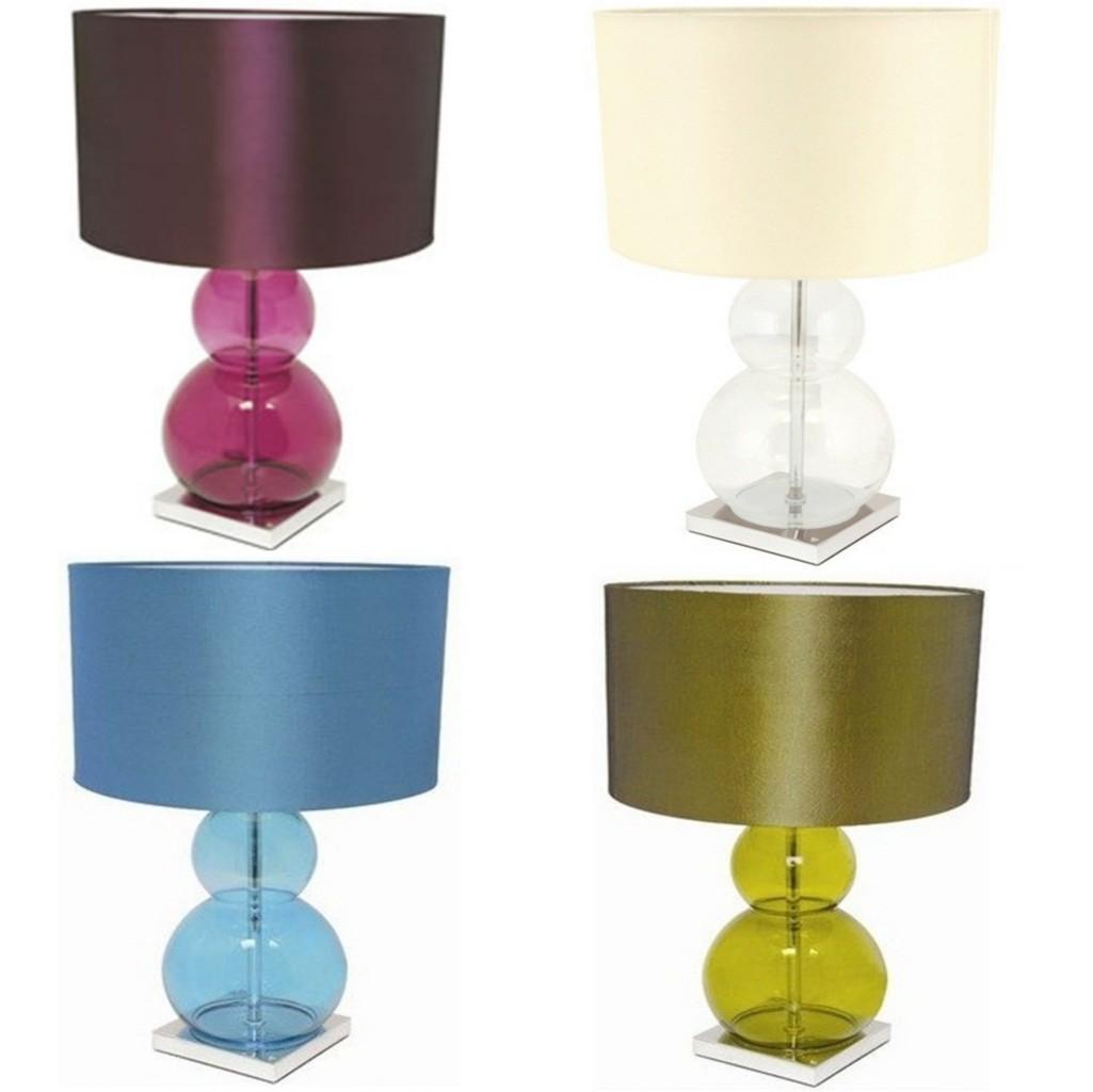 Lloytron sumo bedroom desk table lamp light lime cream for Floor lamp with plum shade