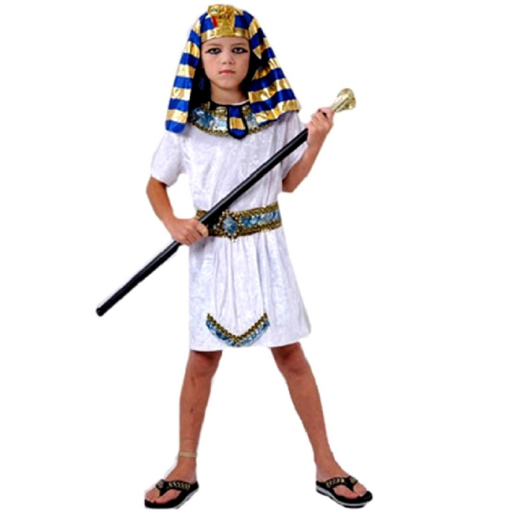 KIDS-EGYPTIAN-PHARAOH-FANCY-DRESS-COSTUME-KING-PRINCE-TUNIC-PARTY-PLAY-OUTFIT
