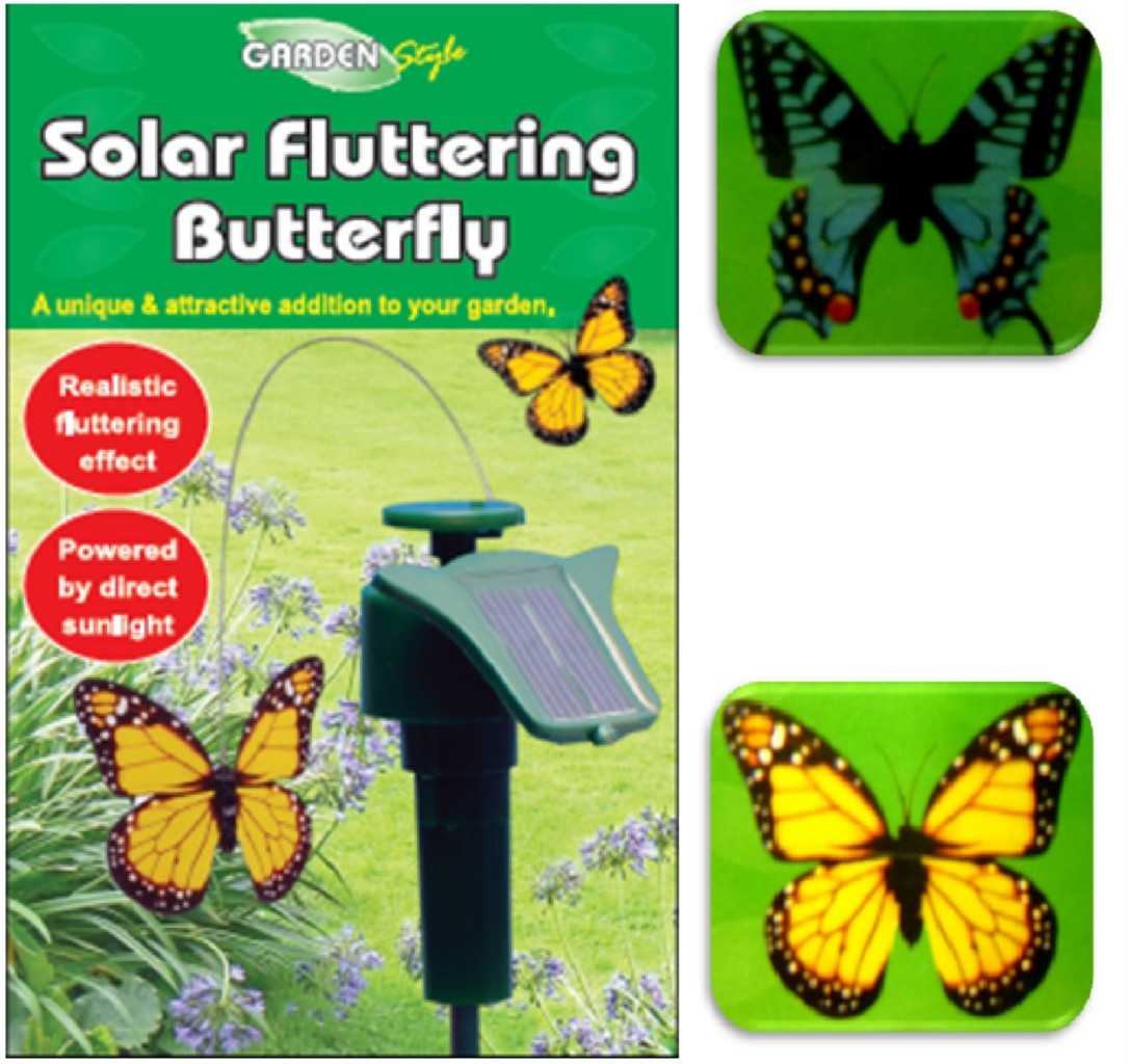 Fluttering Solar U0026 Battery Powered Butterfly Images