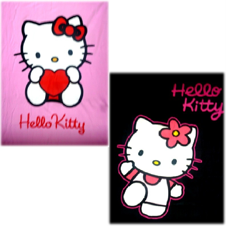 HELLO-KITTY-PANEL-POLAR-FLEECE-BLANKET-THROW-BED-COVER-BEDDING-125-X-160CM