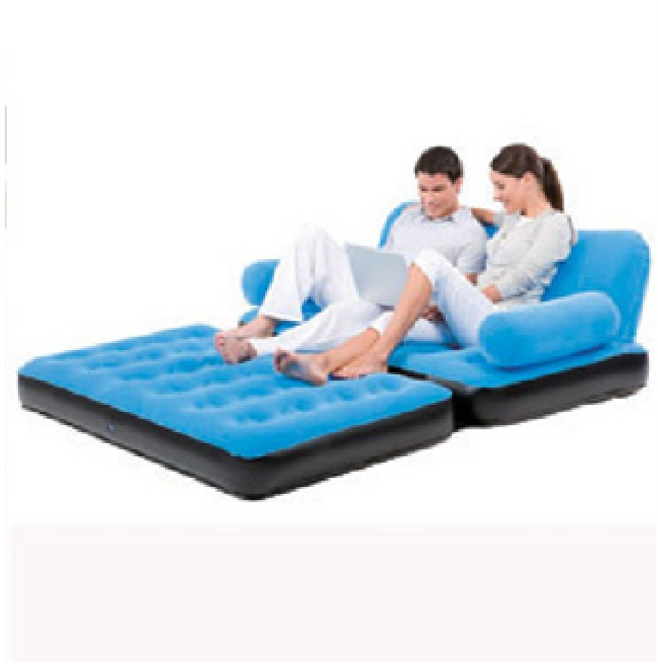 Details about bestway camping inflatable single flocked Camping blow up sofa
