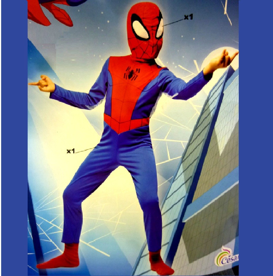 NEW-OFFICIAL-CESAR-CHILDRENS-SPIDERMAN-FANCY-DRESS-KIDS-COSTUME-OUTFIT-MASK
