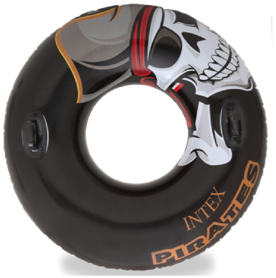 LARGE-INTEX-INFLATABLE-PIRATE-TYRE-TUBE-RING-TIRE-SWIMMING-POOL-AID-FLOAT-582686