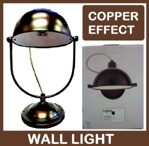 Copper Effect Wall Lights : HERTFORD BLACK BRUSHED COPPER EFFECT PAINTED WALL LIGHT LAMP B&Q CLEARANCE 2168 eBay