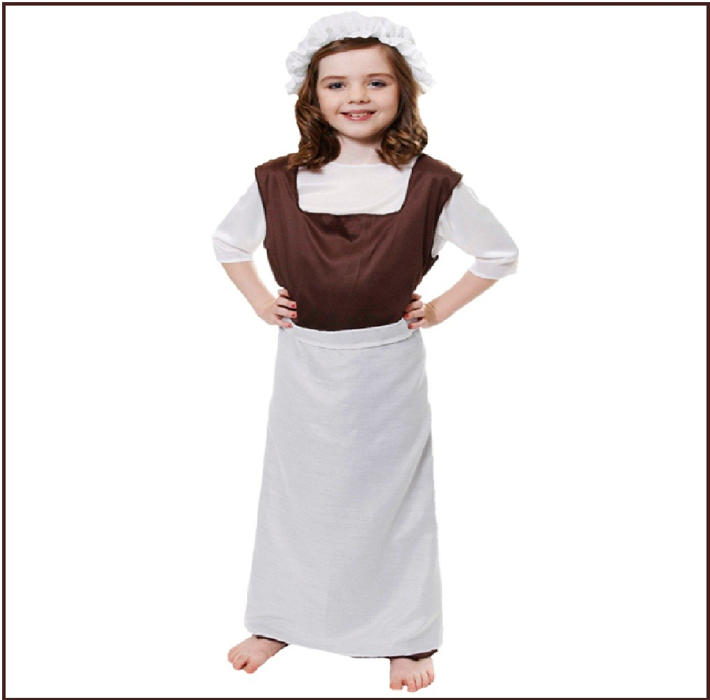 NEW-POOR-TUDOR-GIRL-VICTORIAN-FANCY-DRESS-COSTUME-OUTFIT-KIDS-CHILDRENS-DRESS-UP