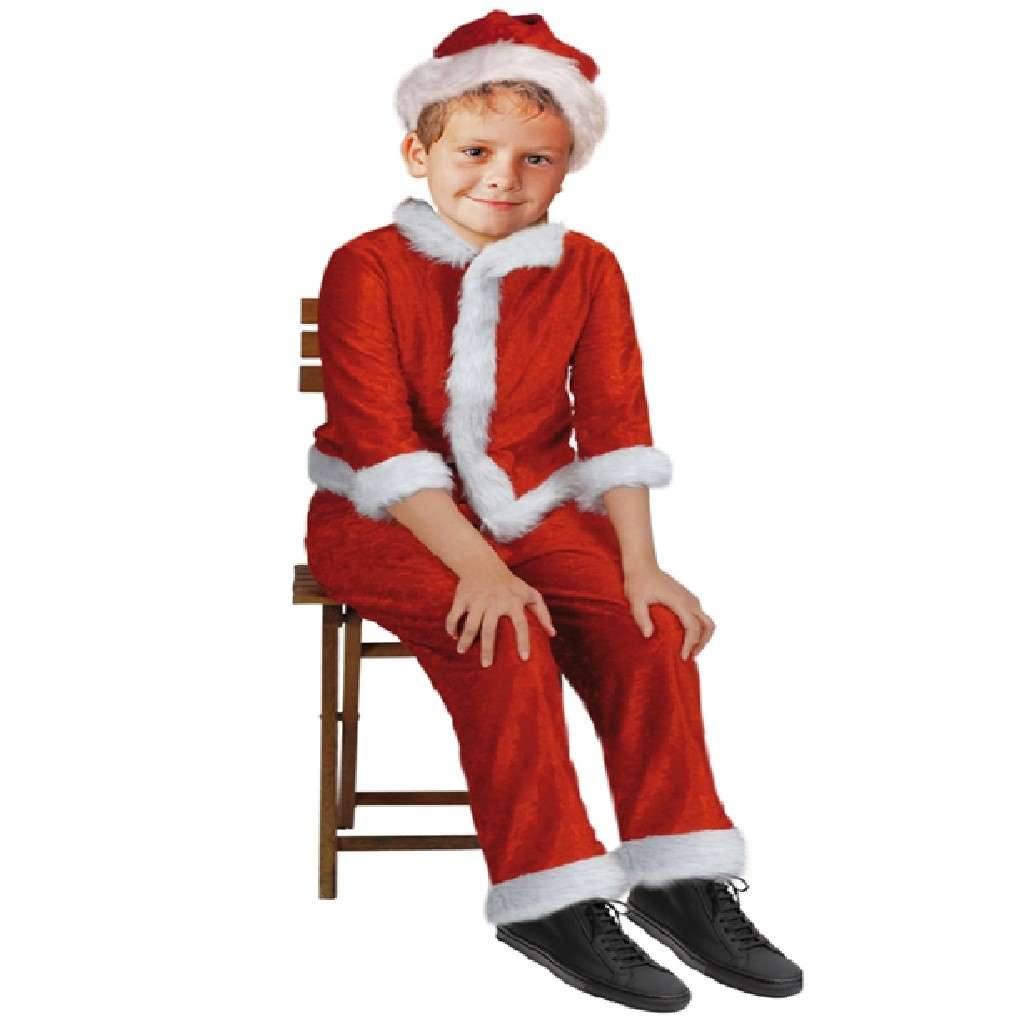 Childrens yr girl boy santa claus fancy dress costume