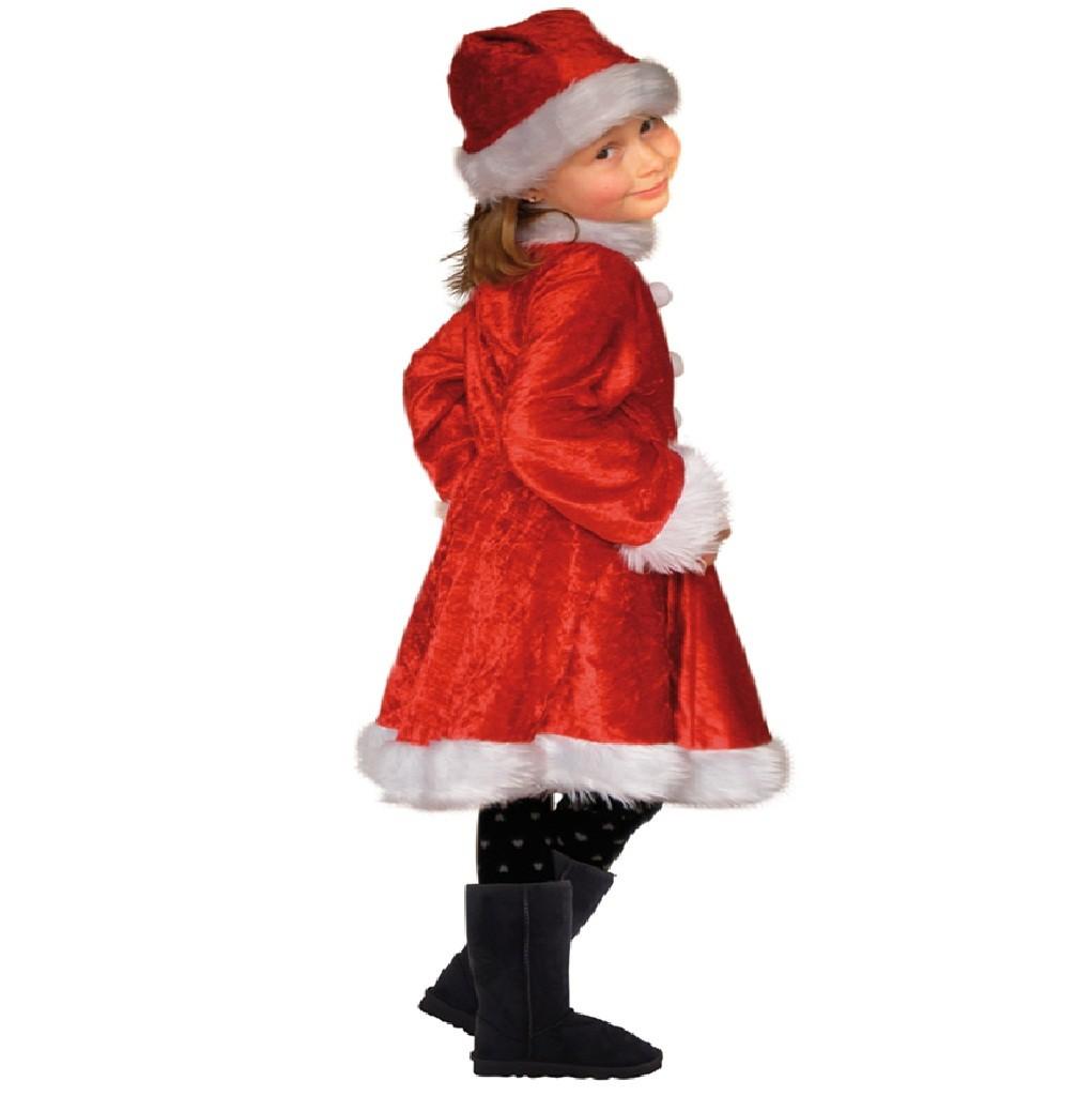 Childrens yr girl boy santa claus fancy dress costume