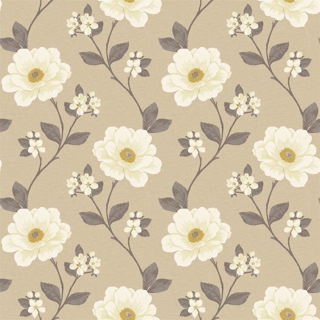 ideco luxury natural floral juliet flower leaf 10m - Flower Wallpaper For Walls