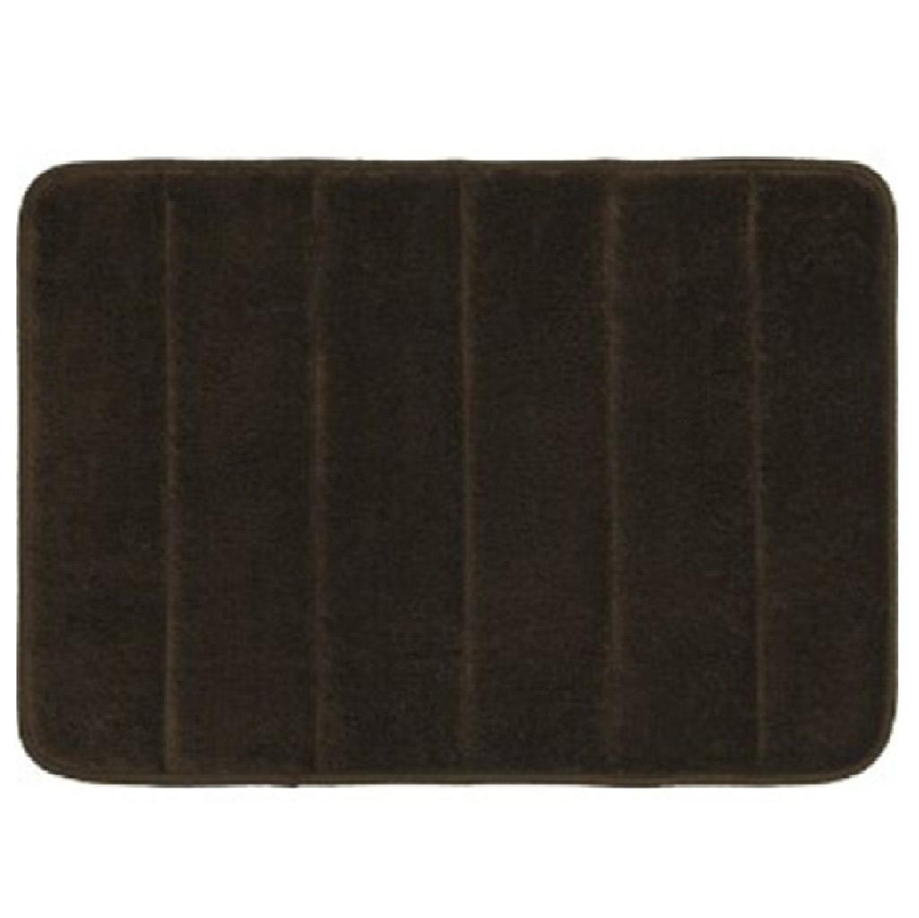 New Luxury Stripe Plain Memory Foam Bath Mat Carpet Rug Non Slip Bathroom Floor Ebay