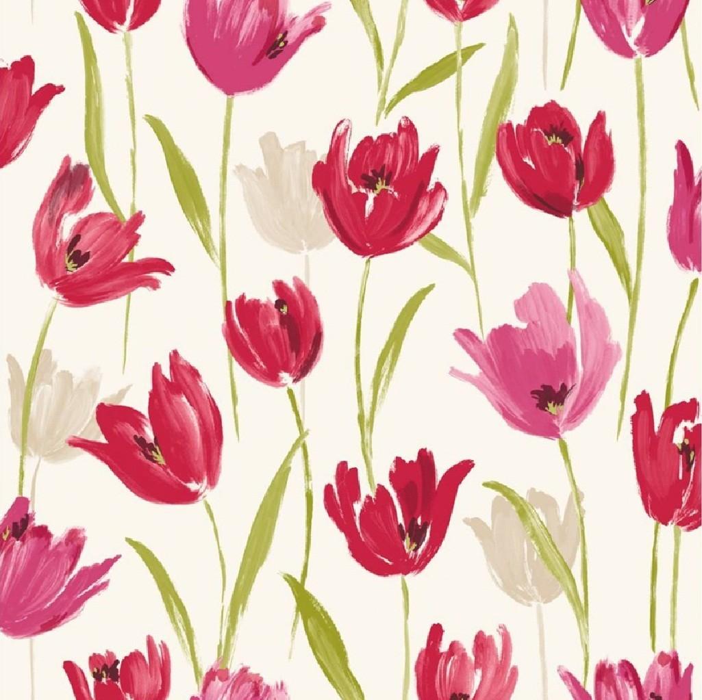 Tulip Wallpaper: New Luxury Tulip Floral Flowers Leaf Print 10m Wallpaper