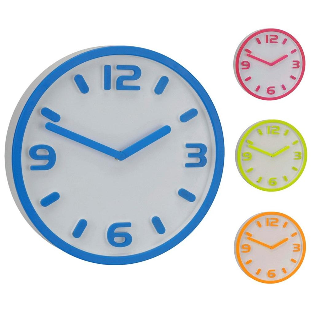 Large Round Modern Embossed 3d Numbers Wall Clock Hanging
