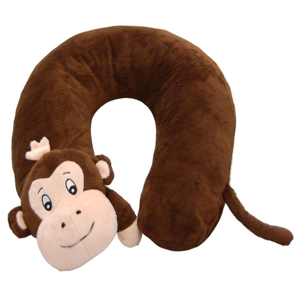 Animal Travel Pillow : CHILDRENS INFLATABLE JUNGLE ANIMAL TRAVEL NECK PILLOW CUSHION HEAD REST SUPPORT eBay